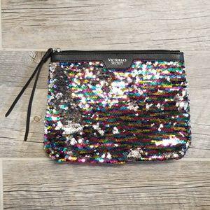 Victoria's Secret Sequins Wrislet Pouch Clutch Bag
